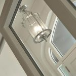 Georgian Style 3 Light Hanging Lantern Polished Chrome
