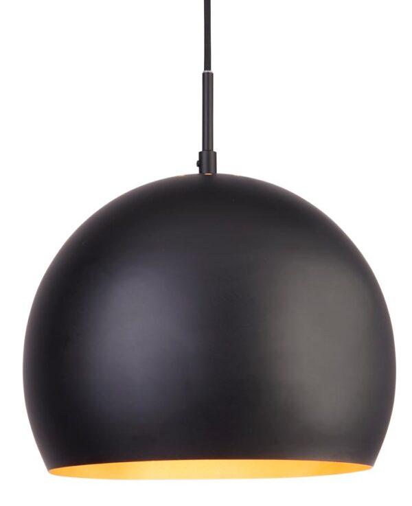 Domas 1 light 30cm matt black ball pendant ceiling light