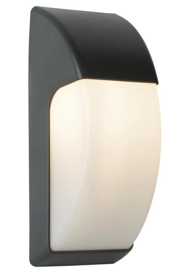 Outdoor 1 light LED crescent wall light dark grey IP65