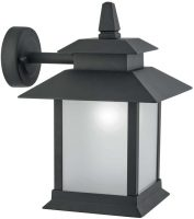Cailtern Traditional Outdoor Glass Panelled Wall Lantern Matt Black
