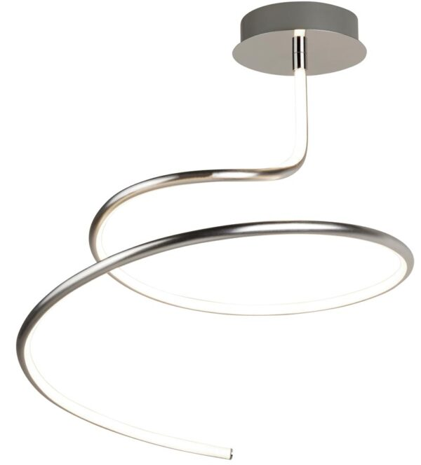 Magic LED swirl flush mount ceiling light in satin silver