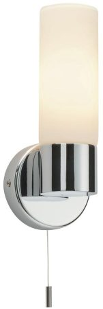 Pure Modern IP44 Bathroom Switched Wall Light Polished Chrome