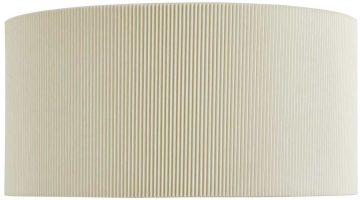 Modern Curved 2 Lamp Wall Washer Light Cream Pleat Shade
