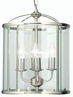 Fern Antique Chrome 4 Light Hanging Hall Lantern