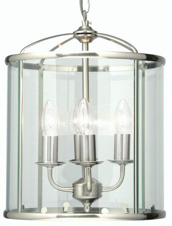 Fern Antique Chrome 4 Light Hanging Hall Lantern
