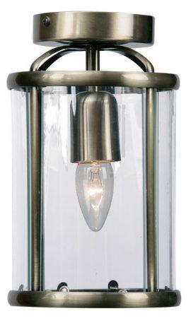 Fern Antique Brass Flush 1 Light Ceiling Lantern