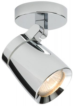 Knight Modern Single Bathroom Spot Light Polished Chrome