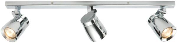 Knight Modern 3 Lamp Bathroom Ceiling Spotlight Bar Chrome