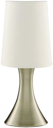 Modern Antique Brass Funnel Touch Dimmer Table Lamp
