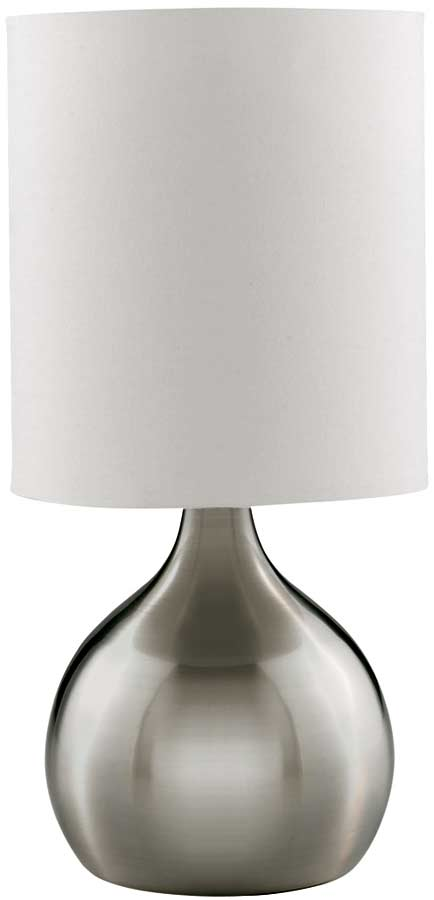 Modern Satin Silver Vase Touch Dimmer Table Lamp