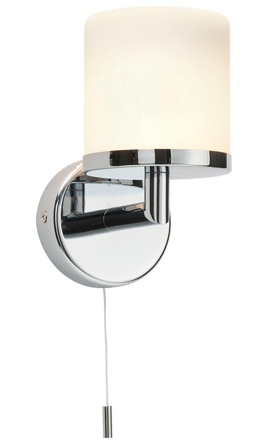 Lipco modern switched bathroom wall light polished chrome IP44