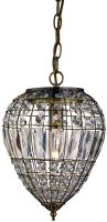 Traditional Antique Brass Crystal Feature Ceiling Pendant