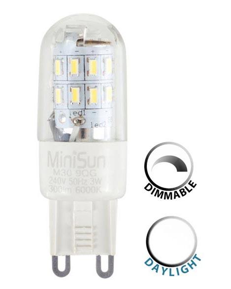 Lumen 3w Daylight 300 6500k Dimmable Bulb G9 Led White Capsule vnNw8m0