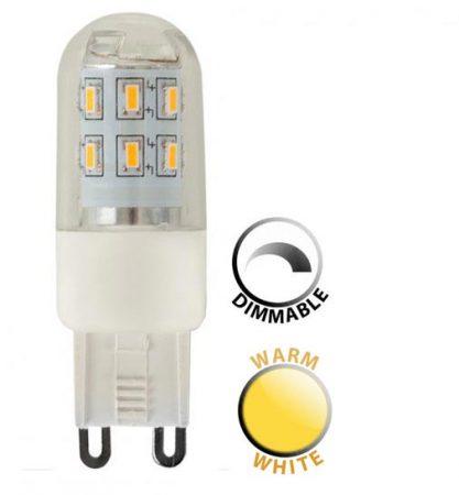 3w Dimmable LED G9 Capsule Bulb 3000k Warm White 280 Lumen