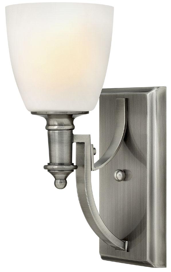 Hinkley Truman 1 Light Wall Light Antique Nickel Art Deco Style