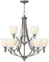 Hinkley Truman Large 9 Lamp Art Deco Design 2 Tier Chandelier