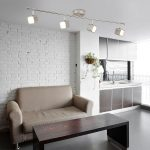 Quad Dimmable 4 LED Ceiling Spot Light Bar Satin Silver