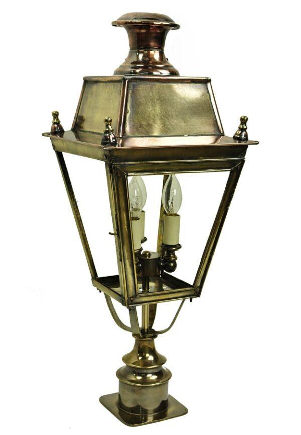 Balmoral short 3 light Victorian pillar lantern solid brass