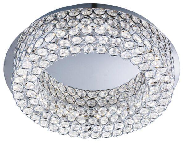 Vesta LED flush mount crystal halo ceiling light