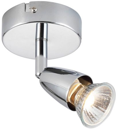 Amalfi Modern Single Wall Or Ceiling Spot Light Polished Chrome