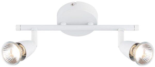 Amalfi Modern 2 Light Ceiling Spotlight Bar Gloss White