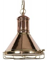 Solid Copper Bespoke Freighter Ceiling Light pendant