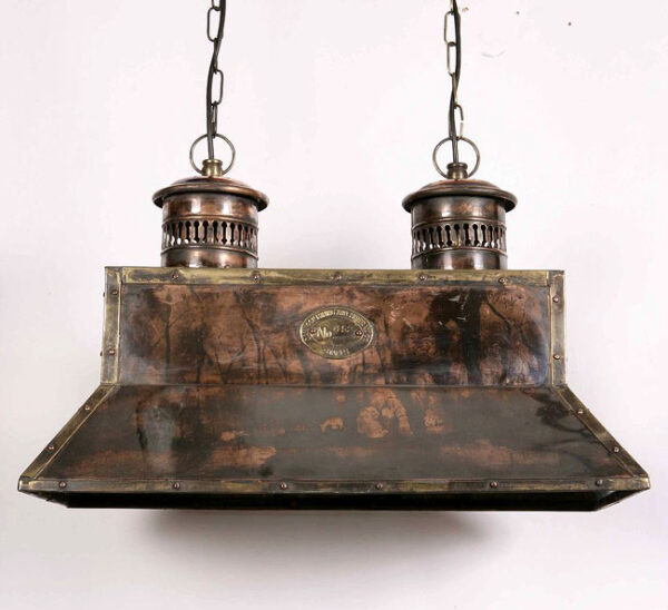Handmade Solid Copper Replica Vintage Smithy Pendant Lamp