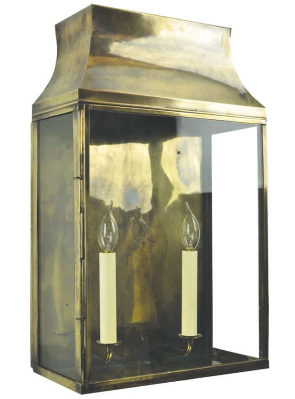 Strathmore large 2 light vintage outdoor wall lantern solid brass