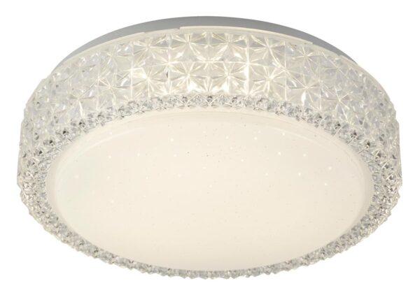 flush mount 12w LED ceiling light acrylic star finish