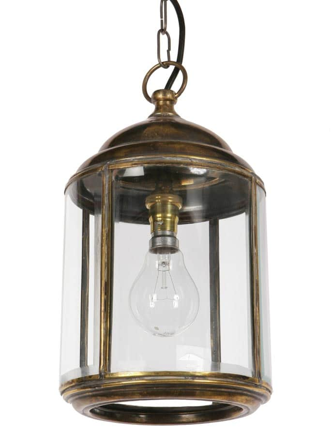 Wentworth hanging outdoor porch lantern solid brass