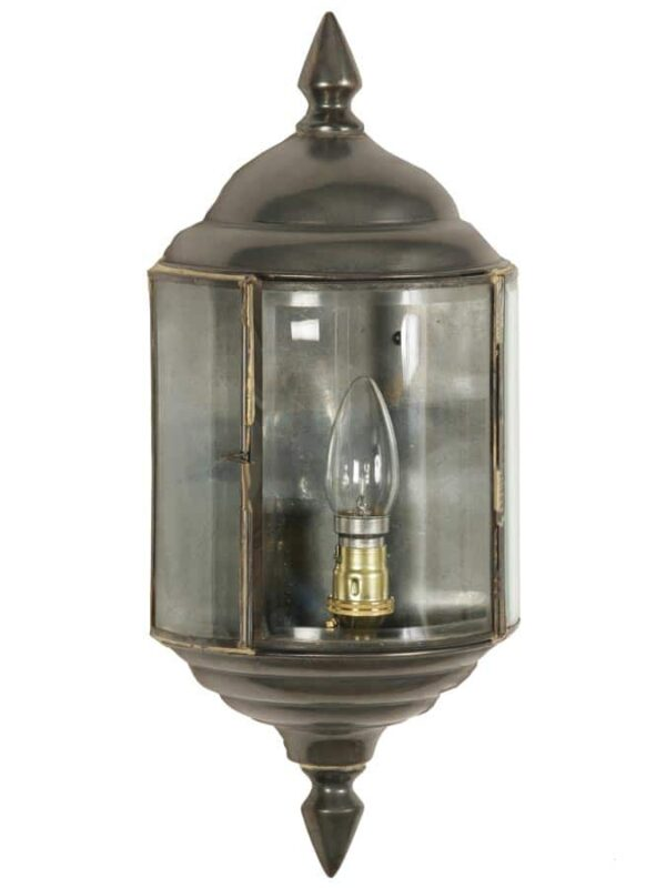 Wentworth Art Deco style outdoor passage wall lantern solid brass