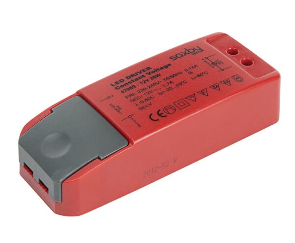 Constant Voltage 12v LED Driver Non Dimmable 20w