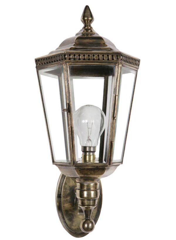 Windsor Georgian period outdoor wall lantern solid brass