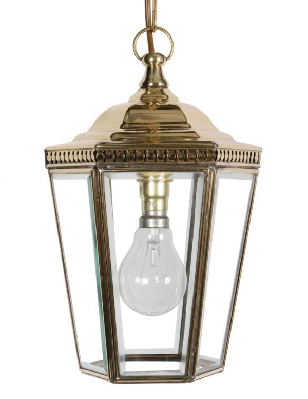 Windsor Georgian hanging outdoor porch chain lantern solid brass