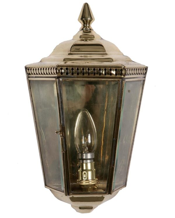 Windsor Georgian outdoor passage wall lantern solid brass