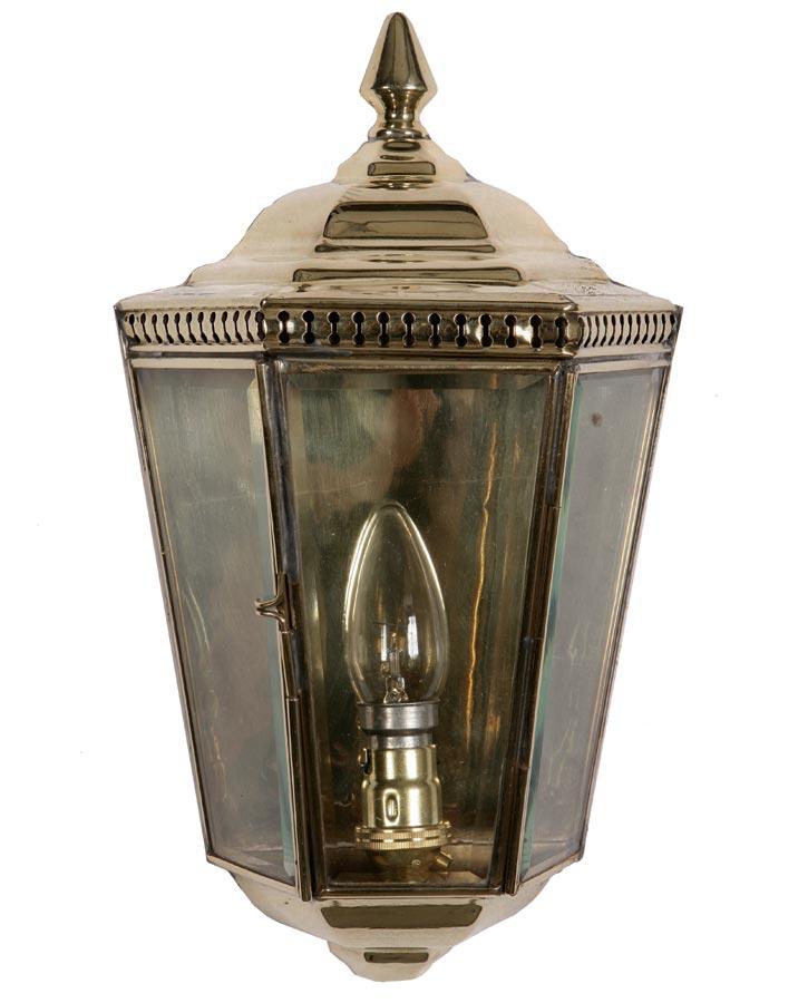 Windsor Georgian outdoor passage wall lantern solid brass