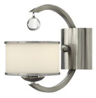 Hinkley Monaco Designer Satin Nickel Art Deco Single Wall Lamp