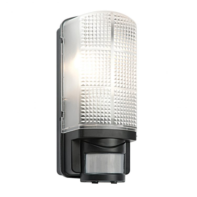 Motion Rust Proof Outdoor Sensor Light Bulkhead In Black