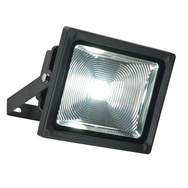 Olea 32w Outdoor LED Security Light In Textured Black