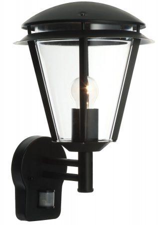 Inova Modern Black Outdoor PIR Motion Sensor Wall Lantern