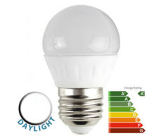 4W LED ES/E27 Frosted Golf Ball Bulb 6500k Daylight White 400 Lumen