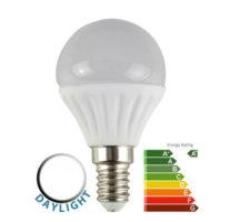 4W LED SES/E14 Frosted Golf Ball Bulb 6500k Daylight White 400 Lumen