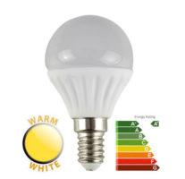 4W LED SES/E14 Frosted Golf Ball Bulb 2700k Warm White 400 Lumen