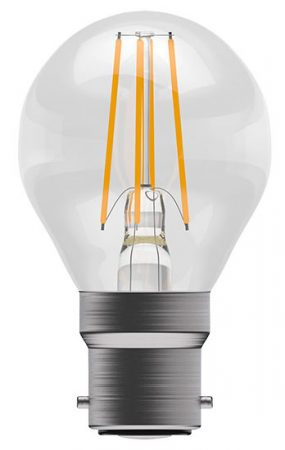 Dimmable 4w BC Filament LED Golf Ball Light Bulb 470lm Warm White