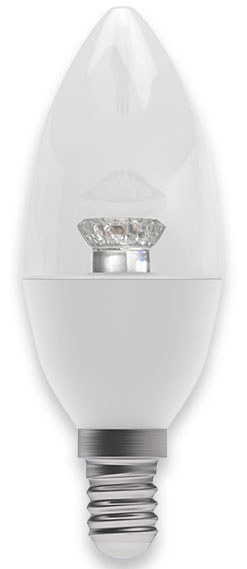Clear 4w SES Warm White Dimmable LED Candle Lamp 250lm