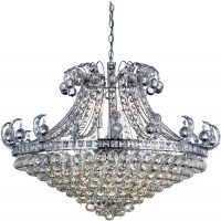 Bloomsbury Contemporary Chrome 8 Light Crystal Chandelier