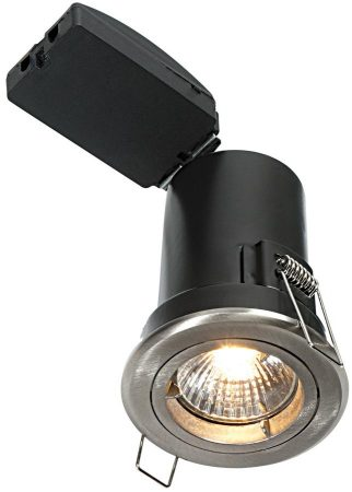 Shield Plus Satin Nickel 90 Minute Fire Rated GU10 Fixed Downlight