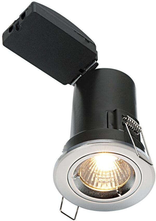 Shield Plus Chrome 90 Minute Fire Rated GU10 Fixed Downlight