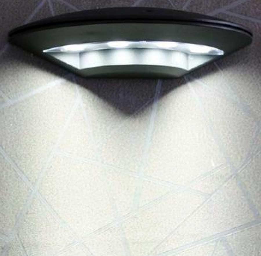 Contemporary Dark Grey Aluminium Outdoor LED Disc Wall Light 5122GY