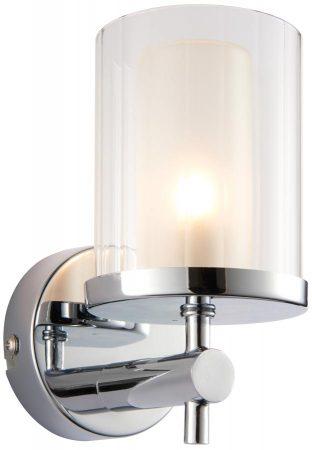 Britton Modern IP44 Bathroom Wall Light Polished Chrome